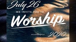 Worship Service - July 26, 2020
