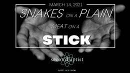 Snakes on a Plain, Meat on a Stick - Worship Service - March 14, 2021
