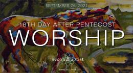 Worship Service - September 26, 2021